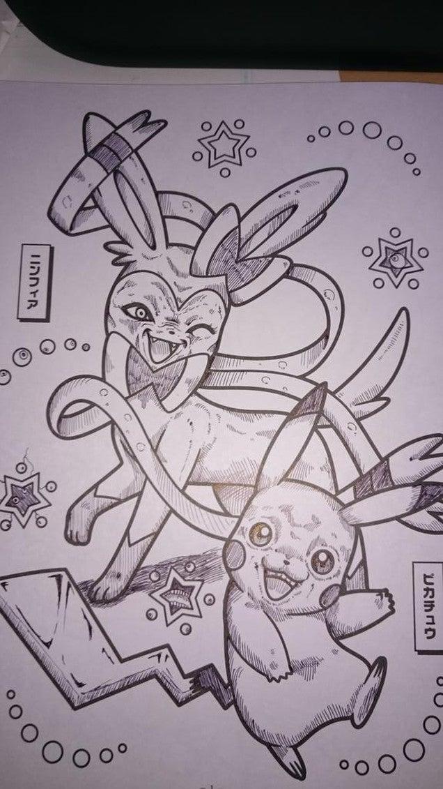 Pokémon Colouring     Books Make for Terrifying Doodles