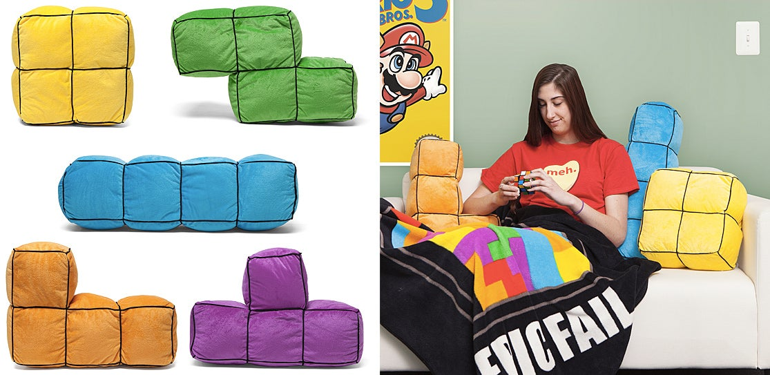 Giant 3D Tetris Cushions Are the Perfect Fort-Building Tool