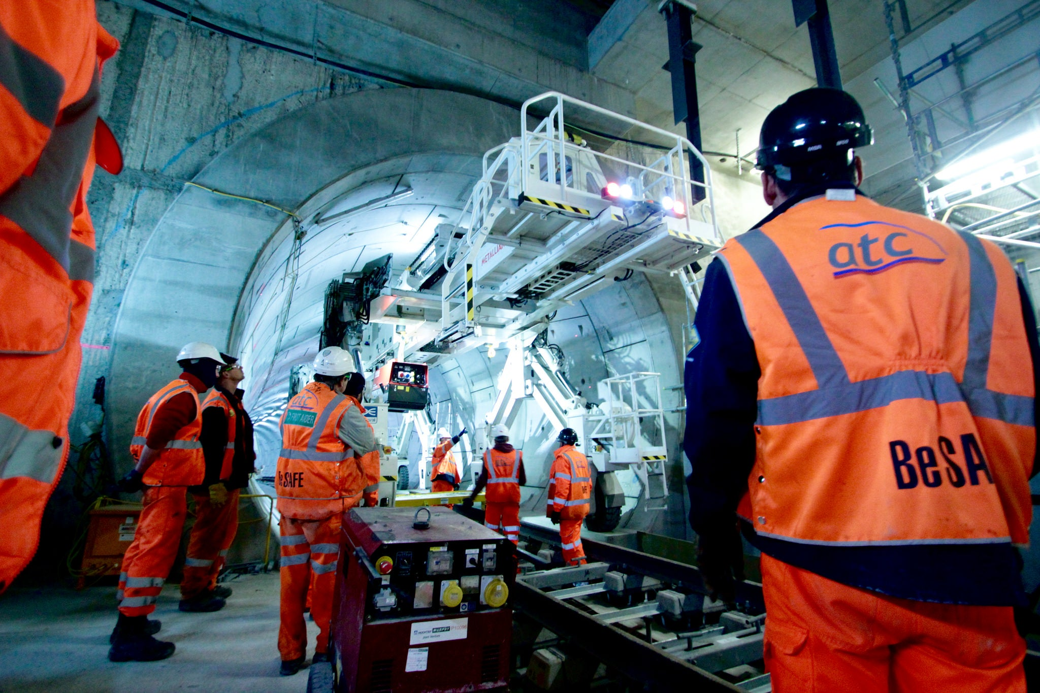 A Fleet of Custom Machines Is Outfitting London's New Subway