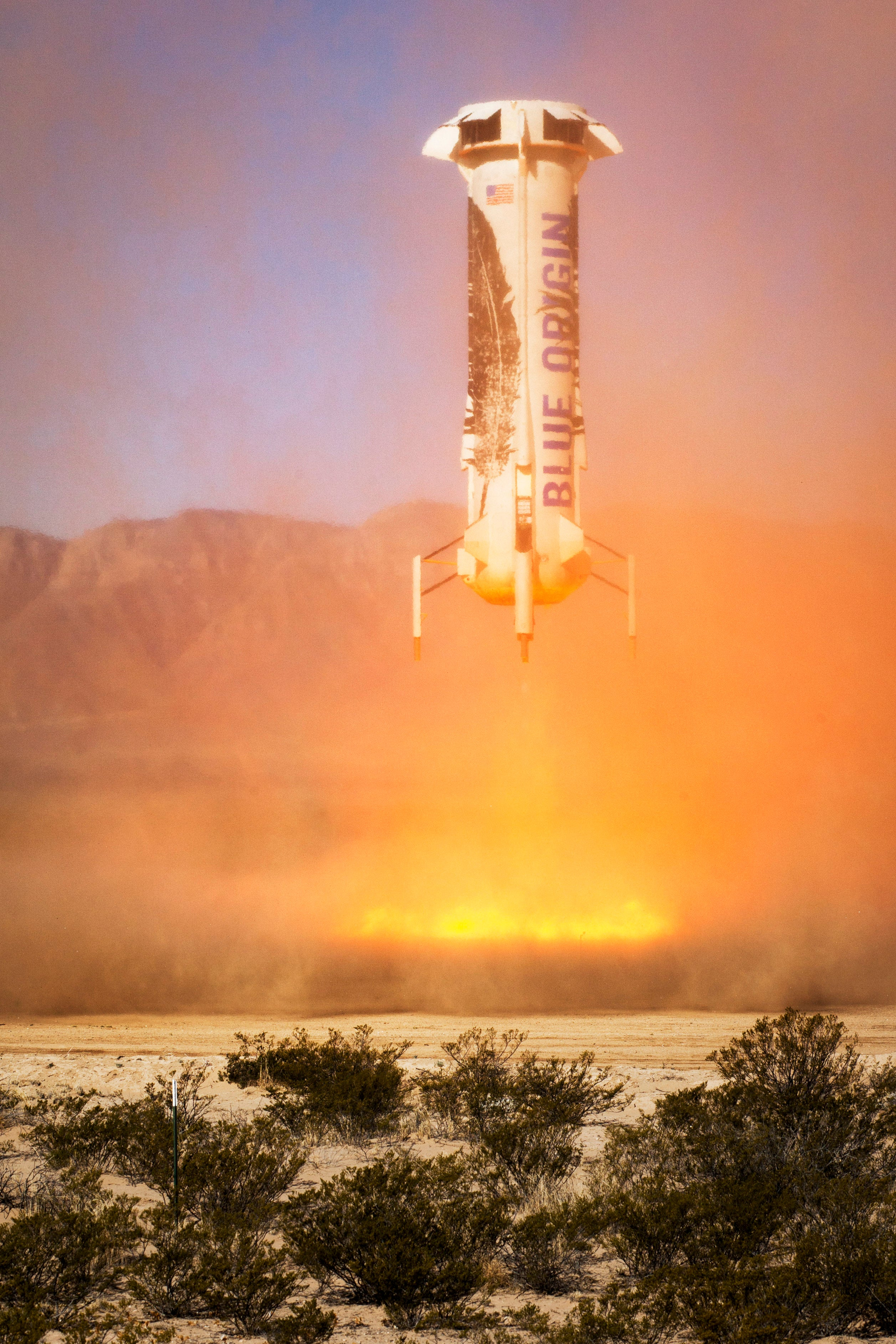 Here's Blue Origin's Rocket Coming In For Its Third Landing