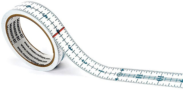 Sticky Tear-Off Measuring Tape Saves Your Walls From Pencil Marks