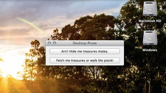 Desktop Pirate Hides Your Mac's Desktop Icons in One Click