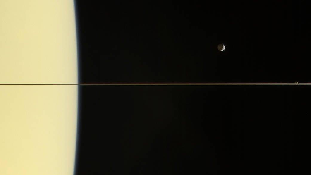 Saturn's Rings Look Razor-Thin In This Posthumous Cassini Release