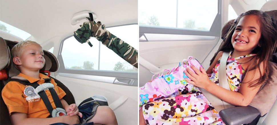 This Cuddly Python Redirects AC to the Back of Your Car