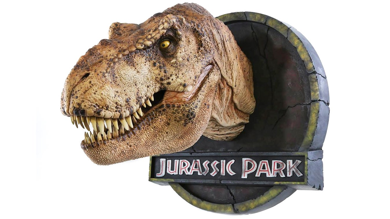 Beautifully Detailed T-Rex Bust Was Created Using The Dinosaur Molds From Jurassic Park