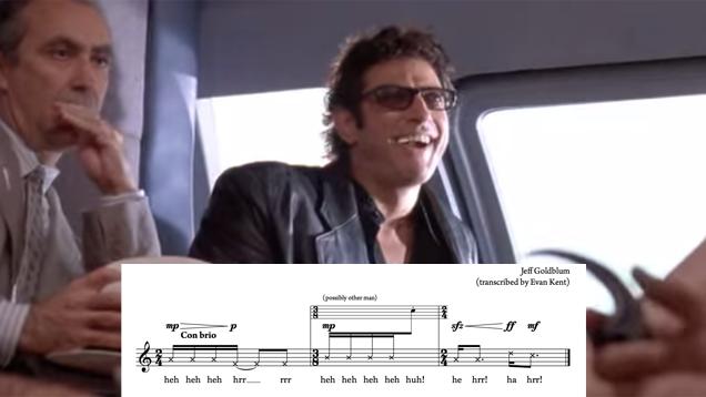 Someone Made Sheet Music For Jeff Goldblum's Jurassic Park Laugh