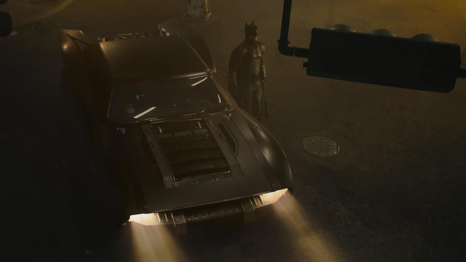 The New Batmobile Looks Like An Old Barracuda With An RV Engine In The Trunk