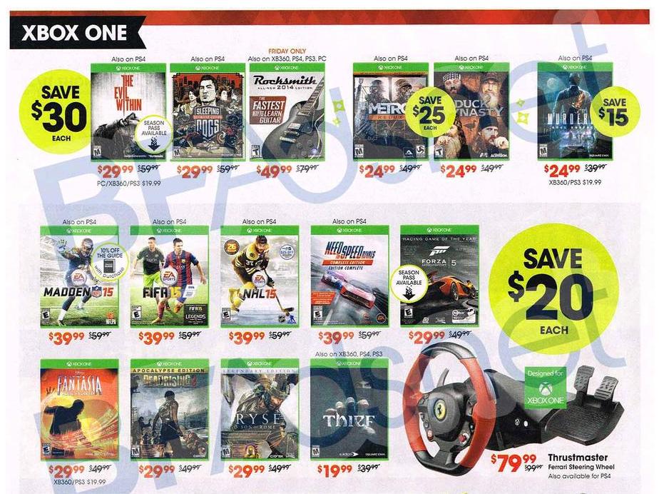 GameStop's 2014 Black Friday Deals Have Leaked
