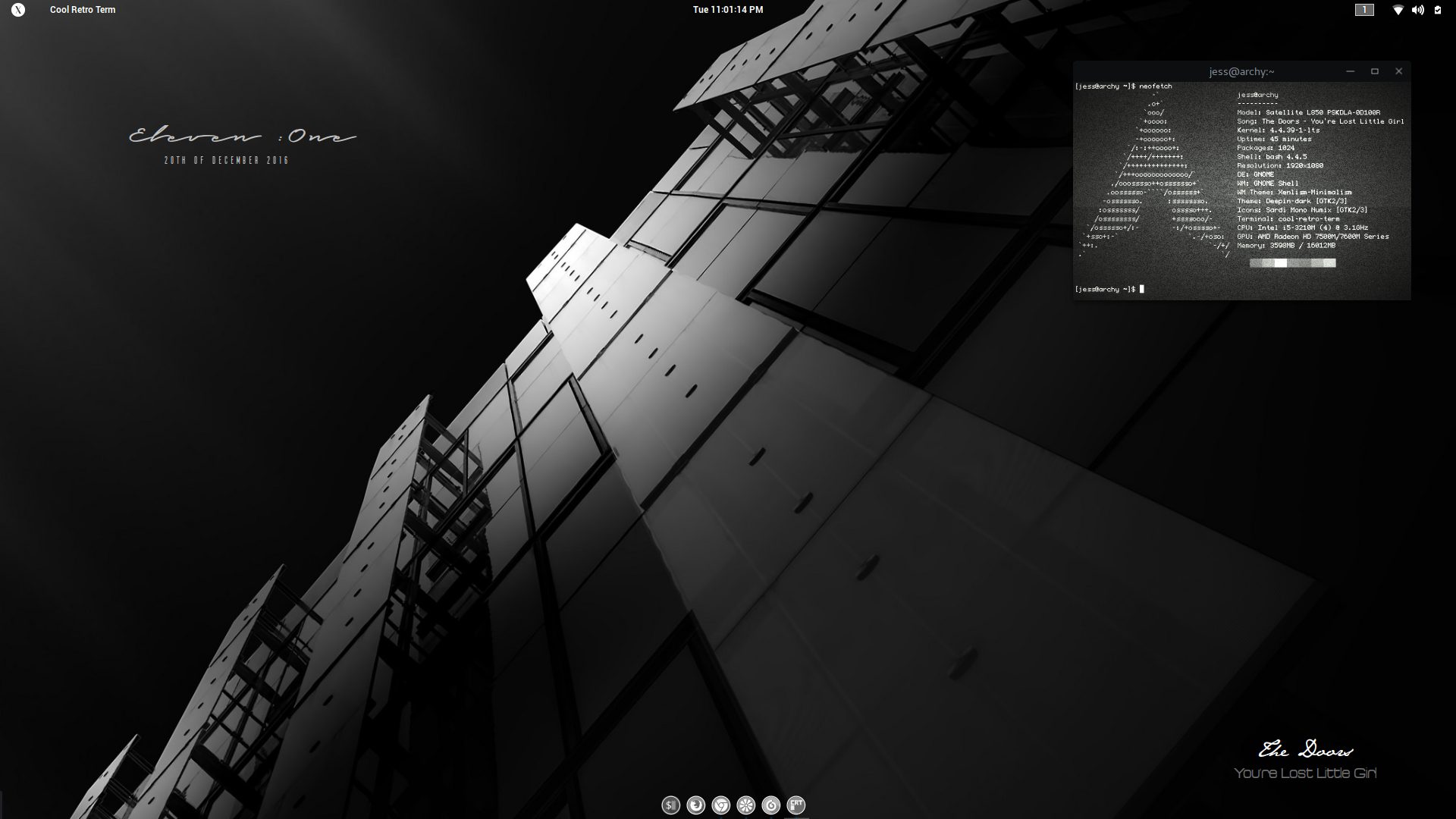 The Monochrome Arch Desktop