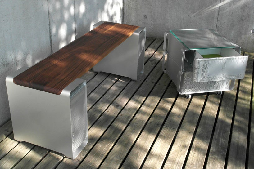 This Bench Is Built Using Two Power Mac G5s