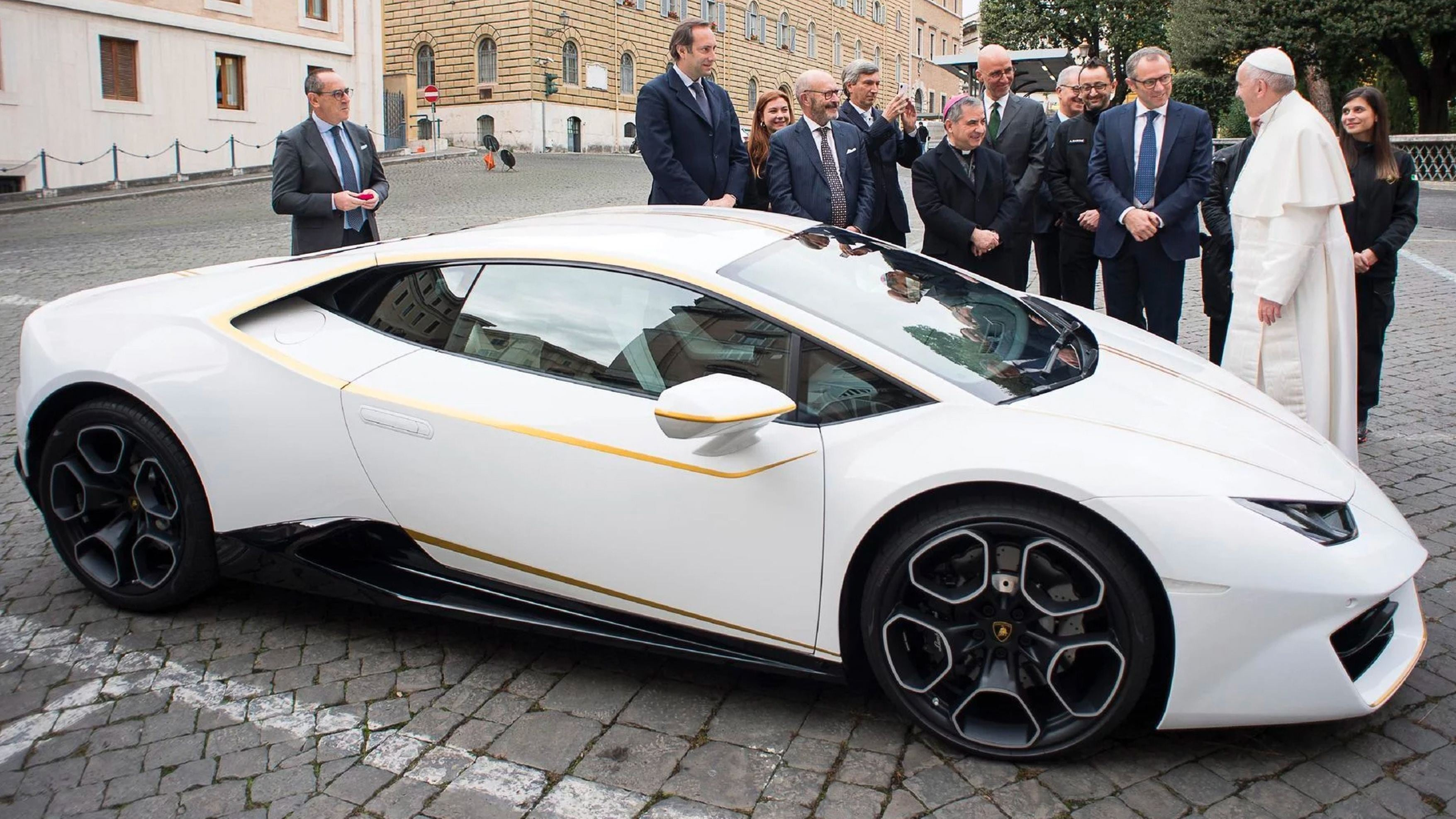 The Pope Is Selling His Signed Lamborghini, The Only Supercar You Probably Won't Go To Hell For Owning