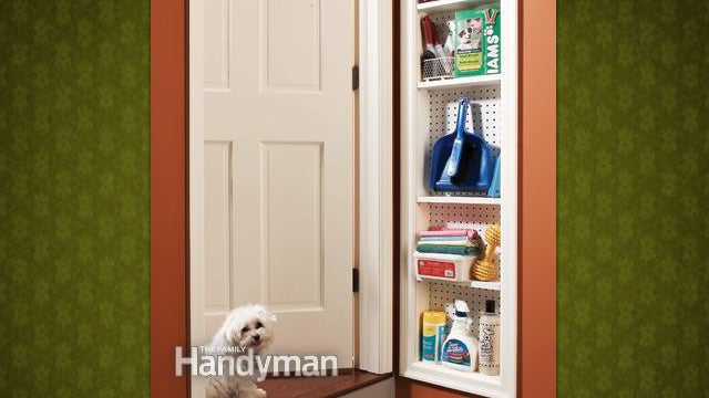 Build a Shallow Pegboard Cabinet for Extra Storage