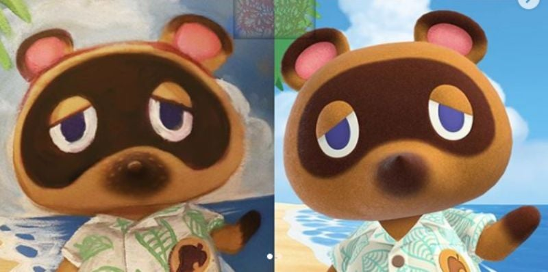 Man Brings Tom Nook To Life With His Nipple