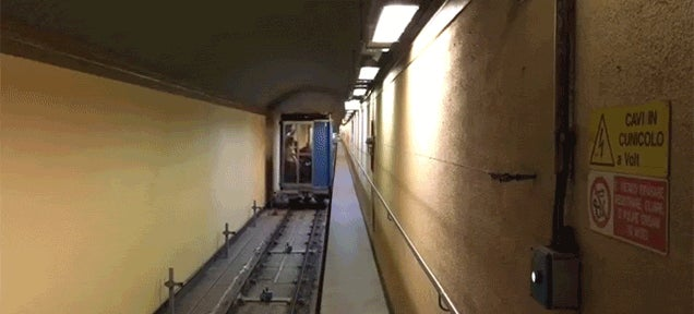 This Elevator Moves Both Horizontally And Vertically
