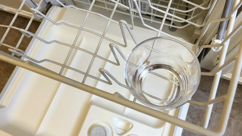 Use an Upright Glass In the Dishwasher as a Dirty Dish Indicator