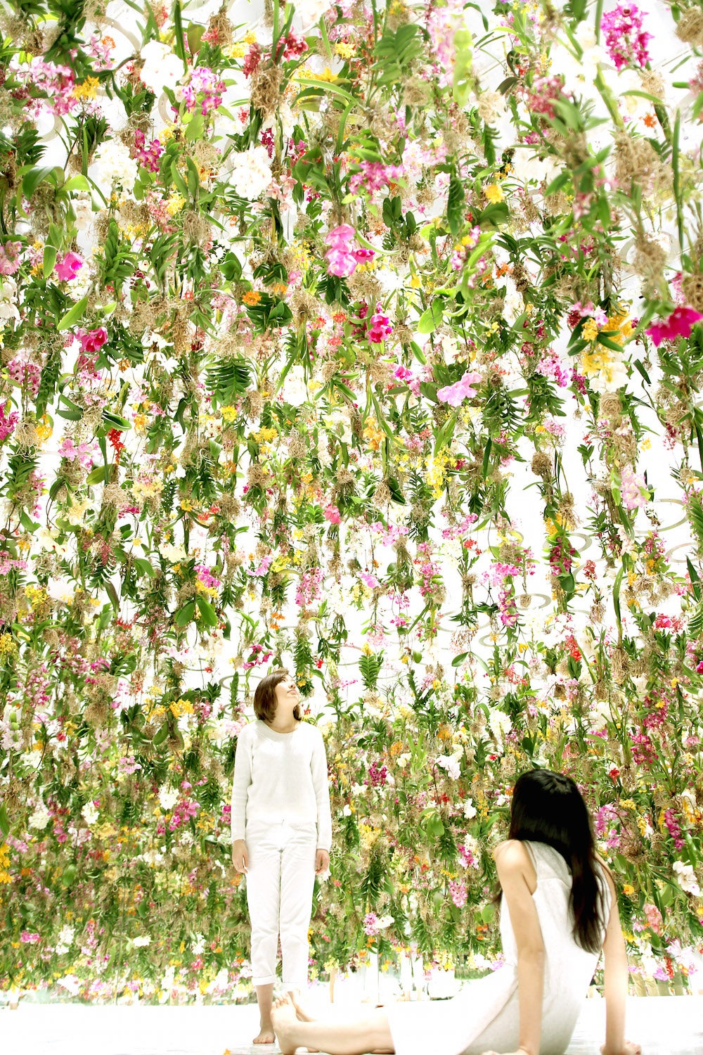 This floating flower garden is like a magical dreamland forest