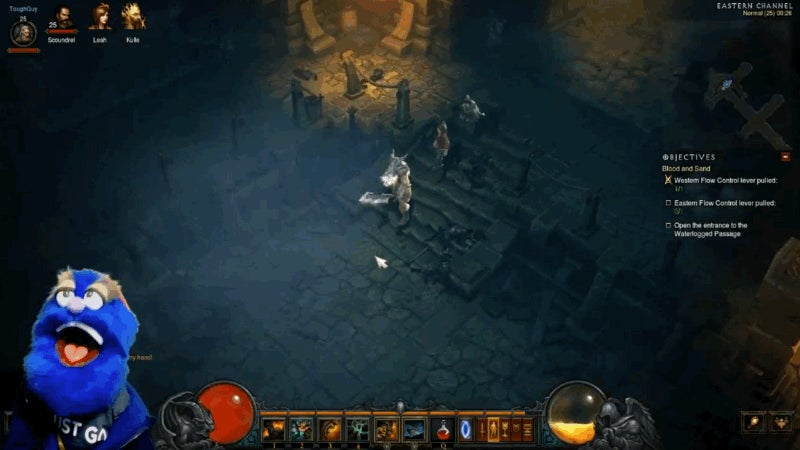 There's A Puppet Playing Diablo on Twitch Now