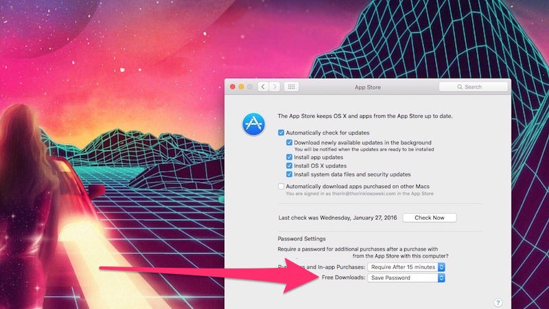 Allow Free Downloads From The Mac App Store Without A Password