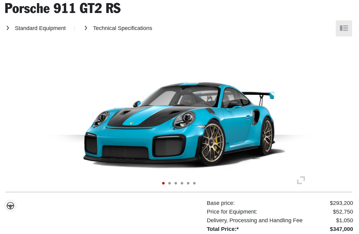how would you configure your 380 000 porsche 911 gt2 rs gizmodo australia. Black Bedroom Furniture Sets. Home Design Ideas