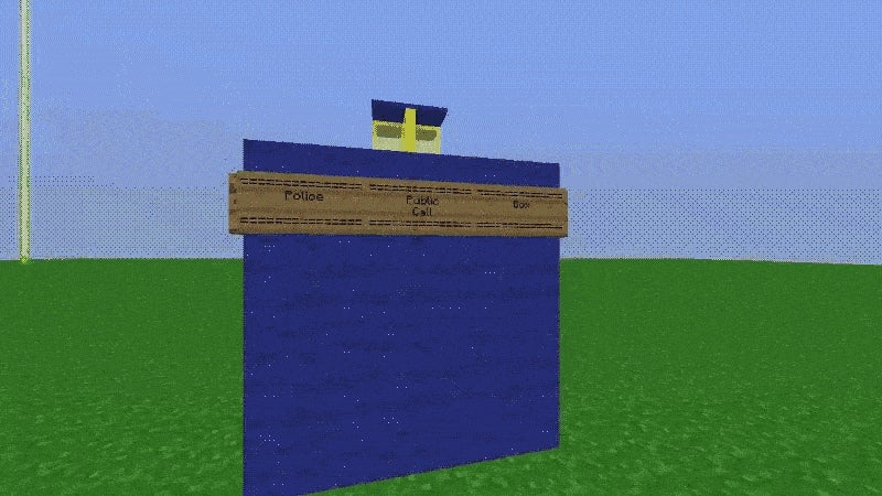 Minecraft TARDIS Is Ready To Adventure in Time and Space