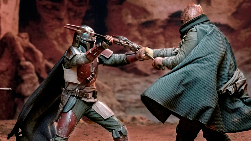 The Mandalorian Gets Up Close And Personal With Some Trandoshans In A New Image