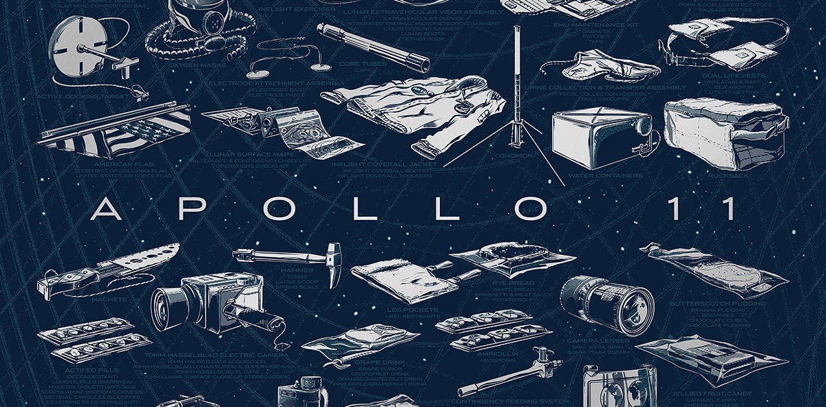 The Detail in This Apollo 11 Poster Is Almost as Amazing as the Trip Itself