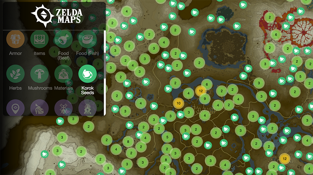 Zelda Data Miners Mapped Out The Hundreds Of Items And Locations In Breath Of The Wild