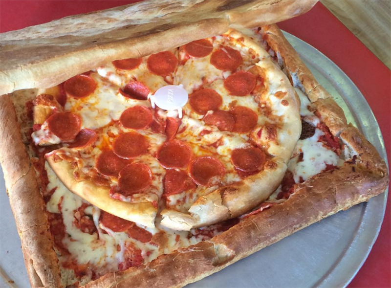 A Pizza Box Made Out Of Pizza, For When You Want Pizza In Your Pizza