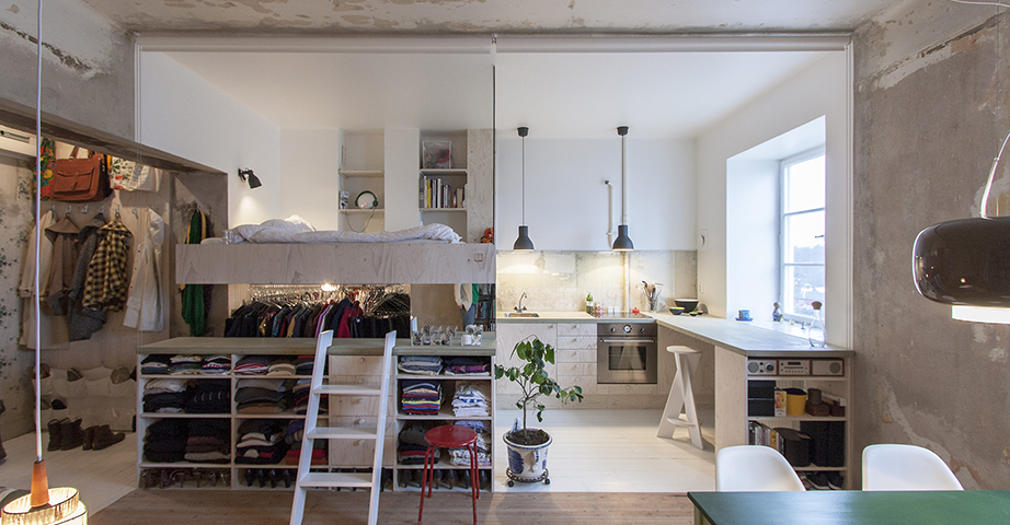 apartment inside. This Tiny Apartment Is Built Inside A 30 Year Old Storage Unit A