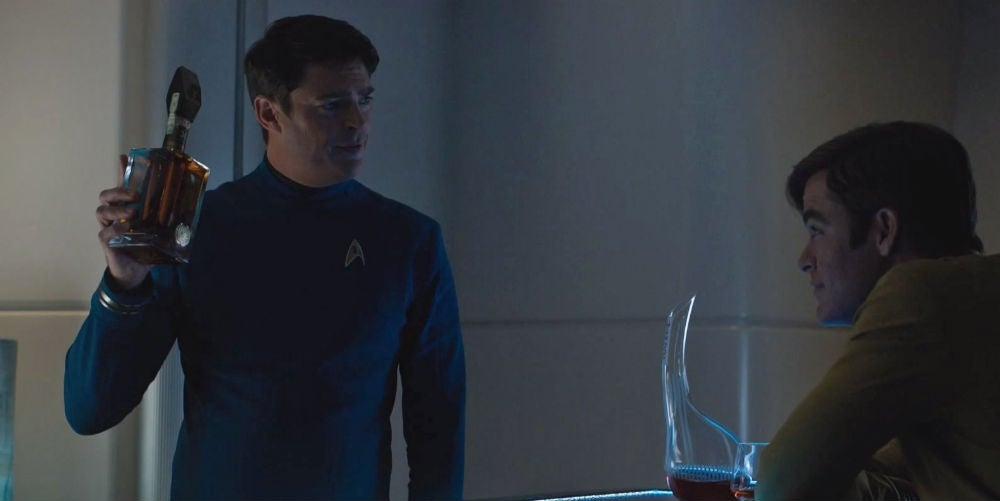 Kirk And Bones Know How To Savour A Good Scotch