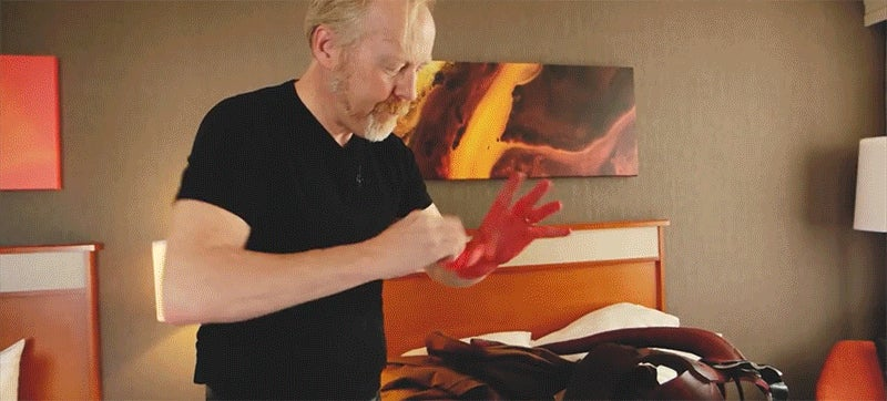 Adam Savage Goes Incognito to Comic Con as Hellboy