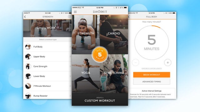Sworkit Overhauls Its Design, Adds Five Minute Workouts, and More