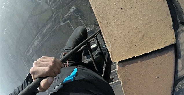 Going Down a Ladder Off the Side of a 274m Tower Is Scarier Than Climbing Up