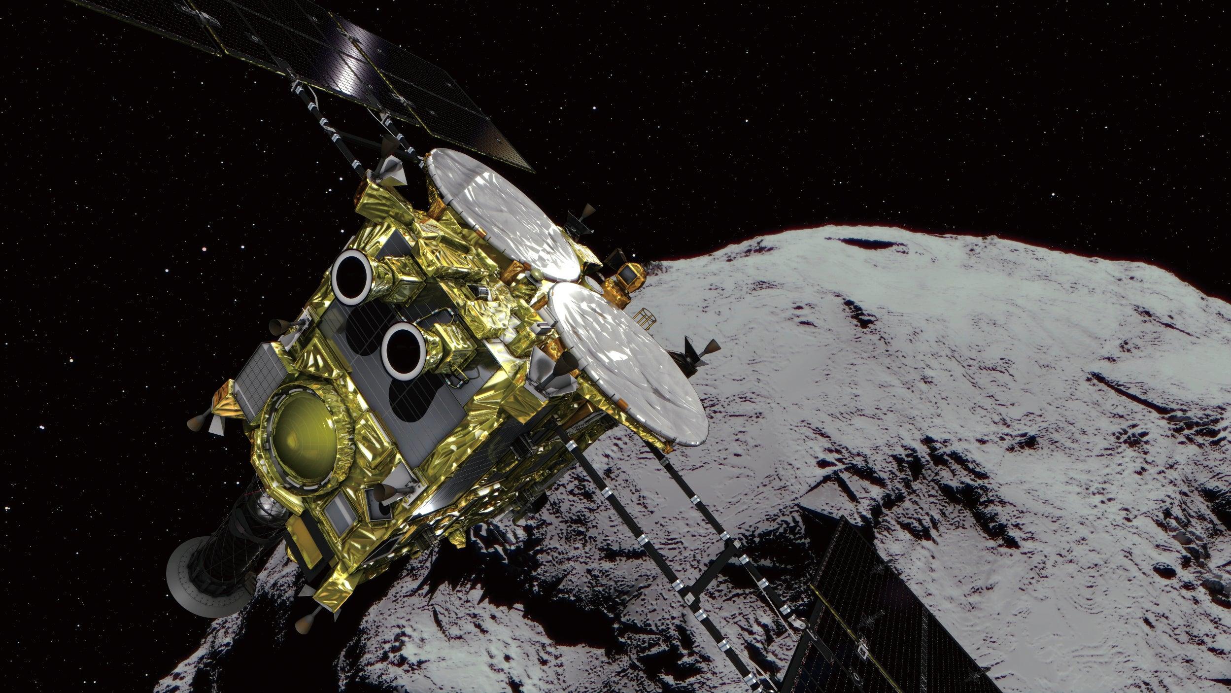 Japanese SpacecraftHayabusa2 Touches Down On AsteroidRyugu