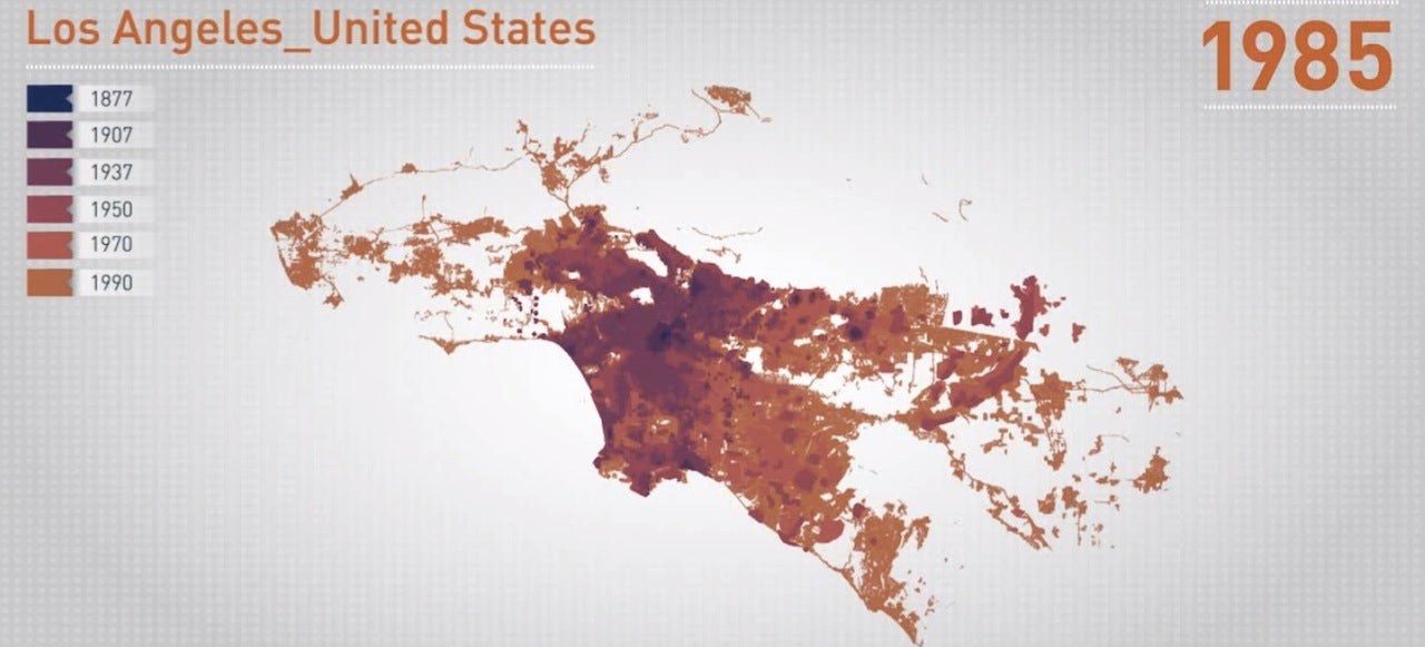 Watch L.A., Paris and São Paulo Grow In These Pretty Visualizations