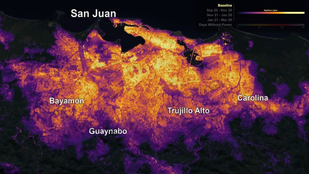 NASA Black Marble Images Reveal How Long It's Taken Puerto Rico To Recover From Maria
