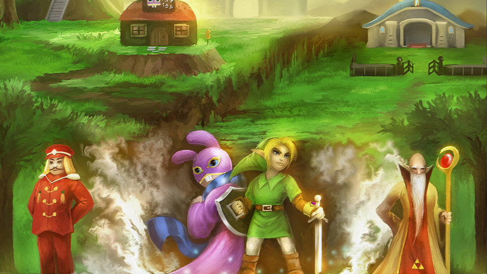 The Story of A Link Between Worlds In A Single Zelda Painting