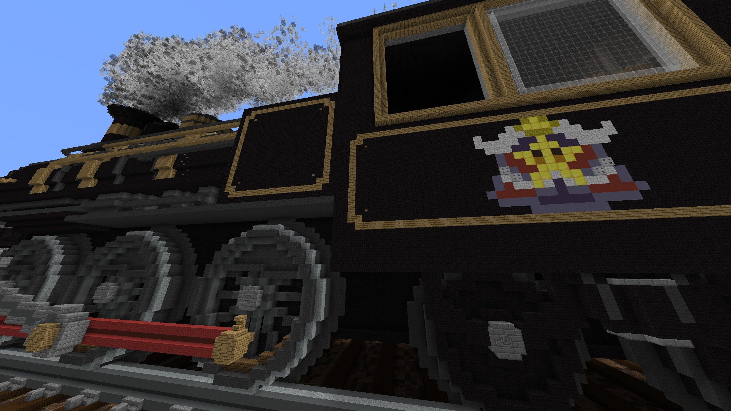 Exploring the Train From Mario Party 8 in Minecraft is Pretty Fun