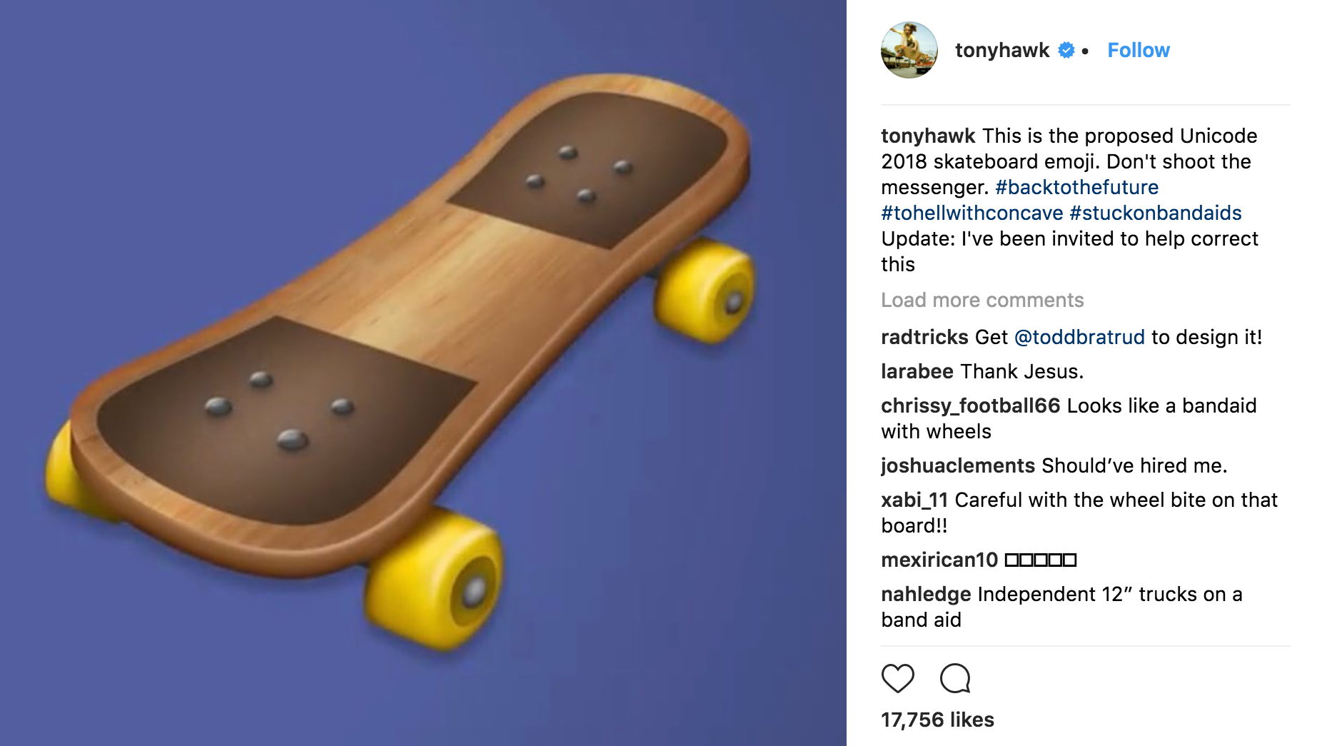 Unicode Knows Its New Skateboard Emoji Is Bad And Is Asking Tony Hawk For Help