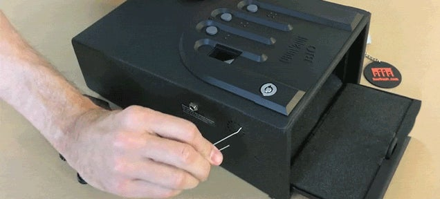 Watch a Gun Safe Get Cracked Open with Just a Paper Clip