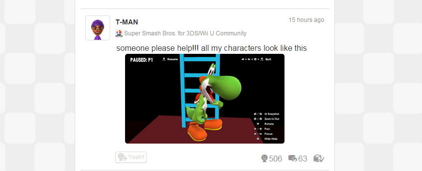 Glitched Out Smash Bros. Does Horrible Things To Nintendo's Finest