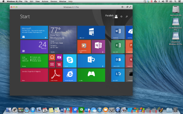 Parallels 10 Includes Yosemite Support, One-Click Windows Trial
