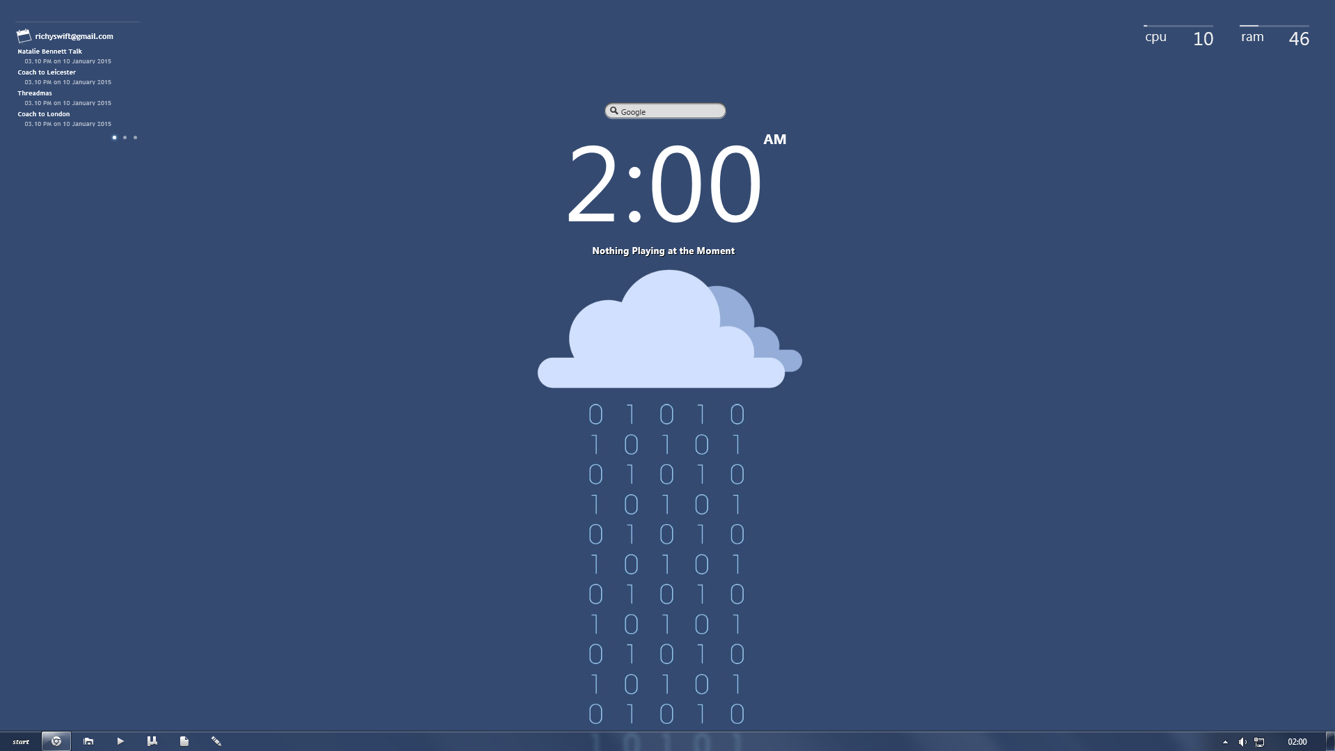 The Binary Rain Desktop