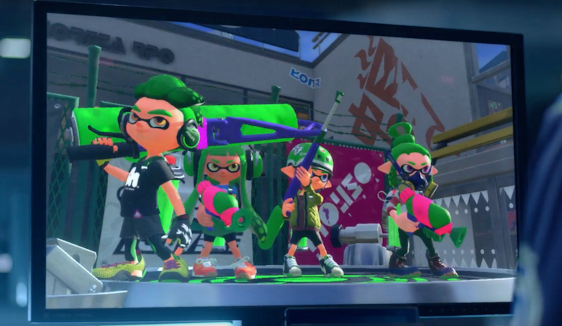 nintendo shows off new splatoon footage unclear if its a new game - Painting Games 2