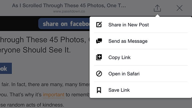 How to Open Links in Your Mobile Browser Instead of the Facebook App