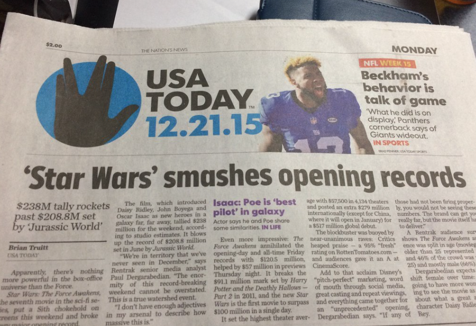 Obviously There Are a Bunch of Trekkies Designing USA Today