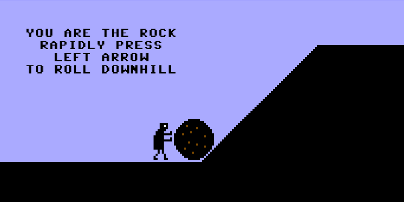 A Game Where You Are The Boulder Sisyphus Must Push