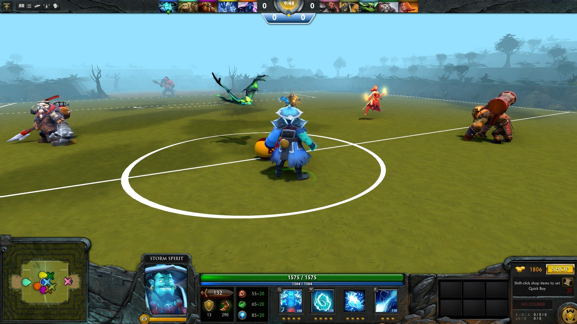 Someone's Putting Soccer Into Dota 2