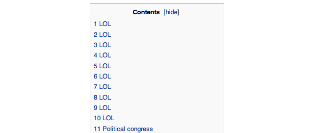 Someone At US Congress Gets Banned From Wikipedia For Trolling