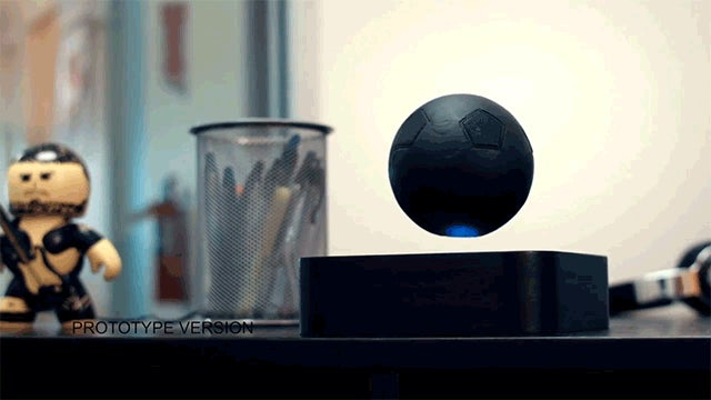 This Death Star of a Speaker Actually Floats in Midair